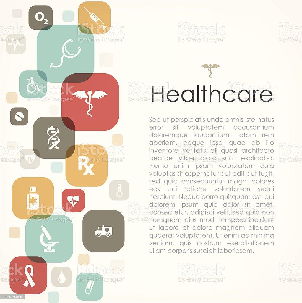 Healthcare copyspace royalty-free stock vector art