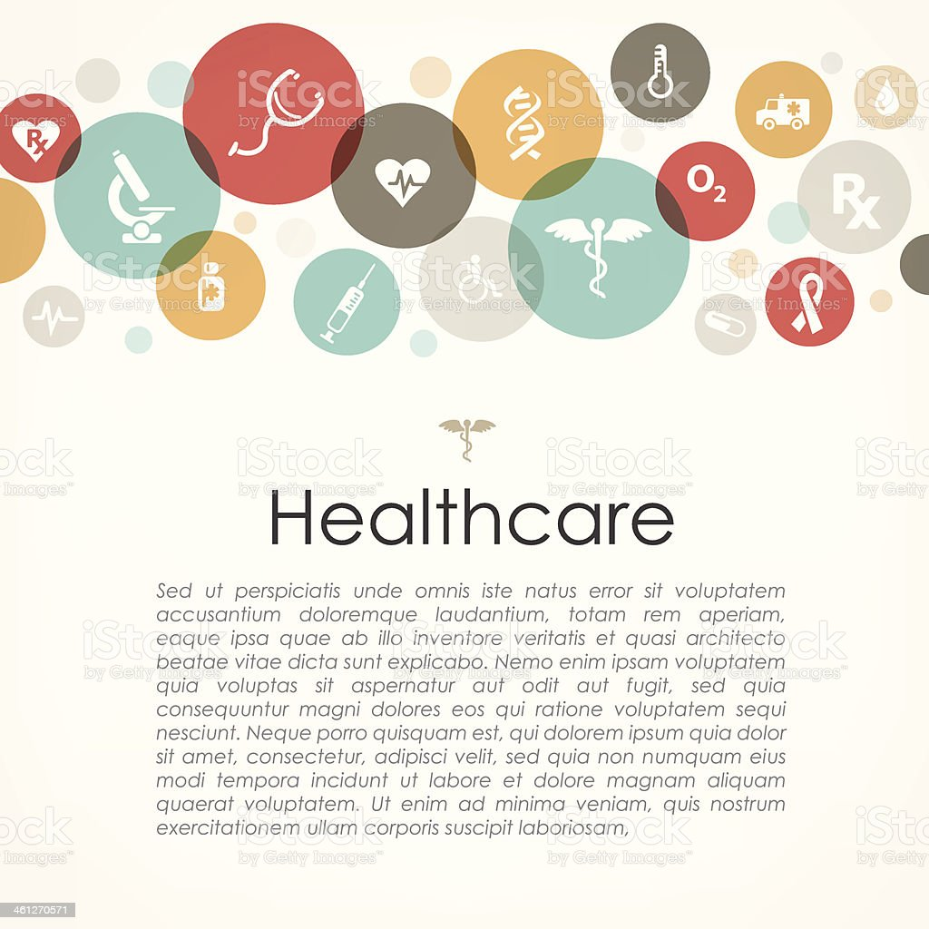 Healthcare copyspace vector art illustration