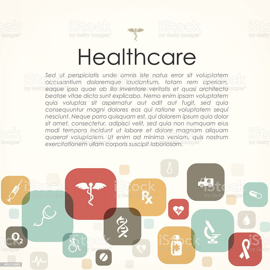 Healthcare copyspace royalty-free stock vector art