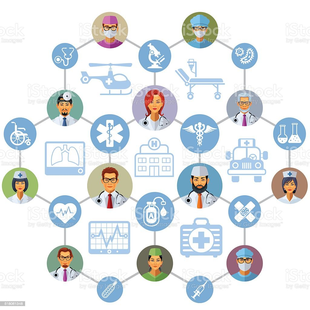 Healthcare design vector art illustration
