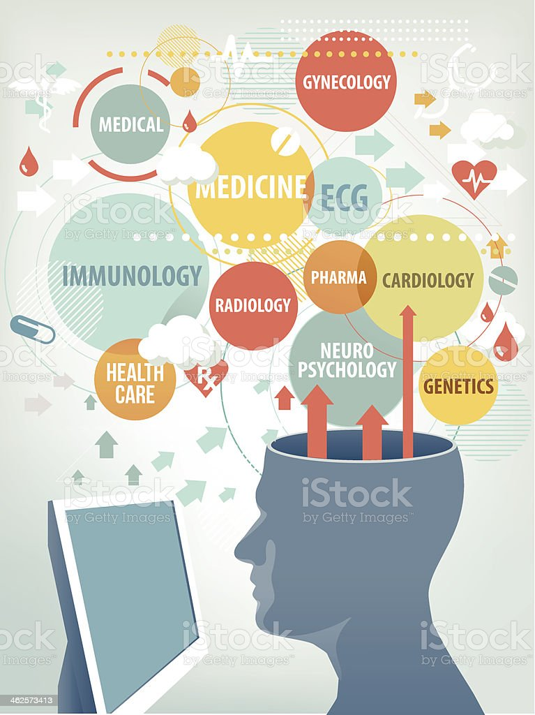 Healthcare expert vector art illustration