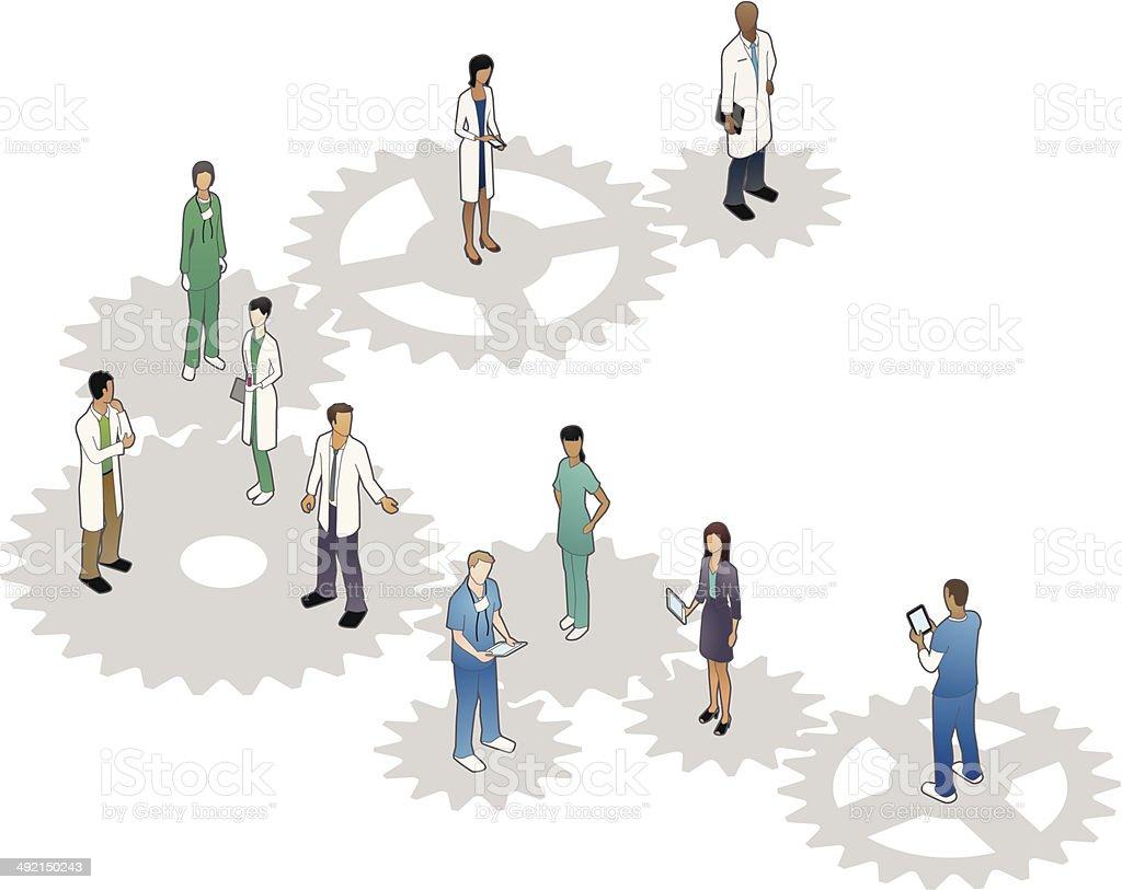 Healthcare Gears Illustration vector art illustration