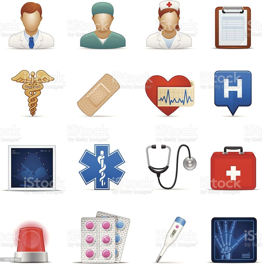 Healthcare Icon Set vector art illustration