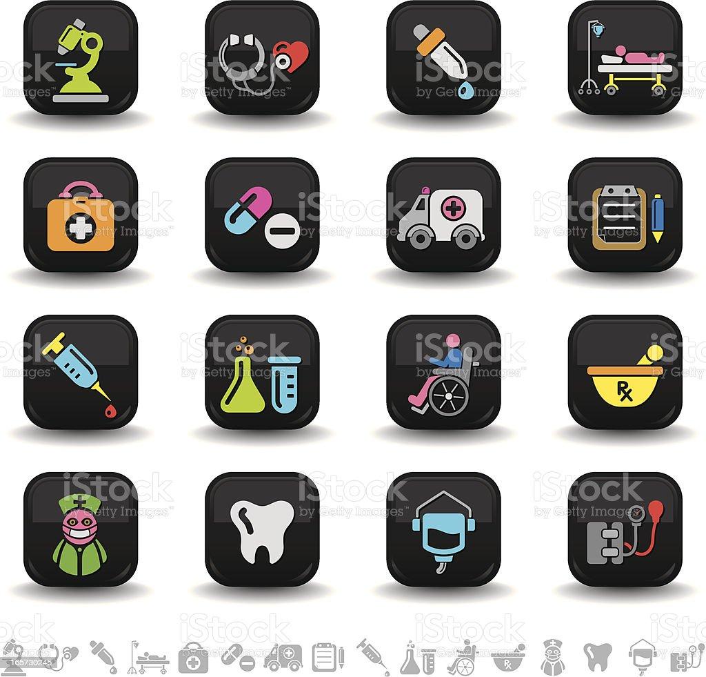 Healthcare icons | bbton series royalty-free stock vector art
