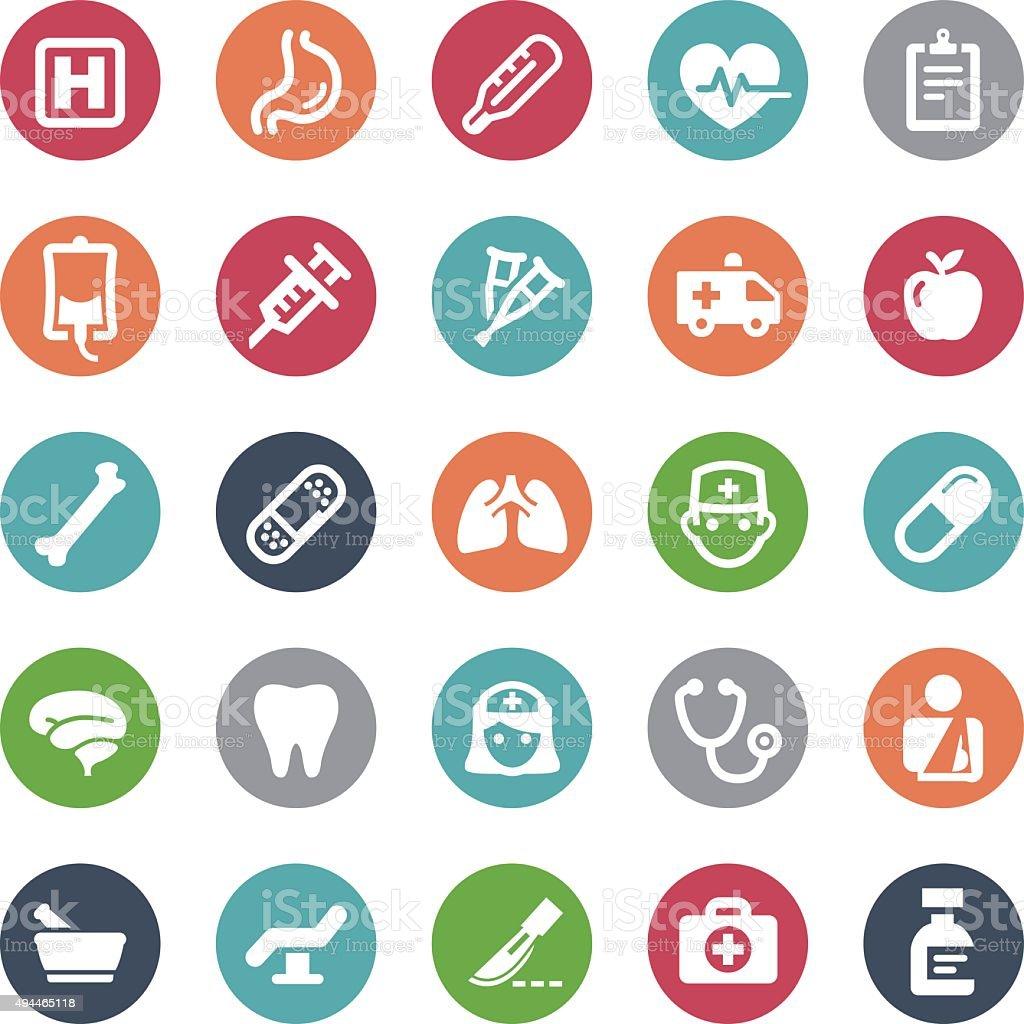 Healthcare Icons - Bijou Series vector art illustration