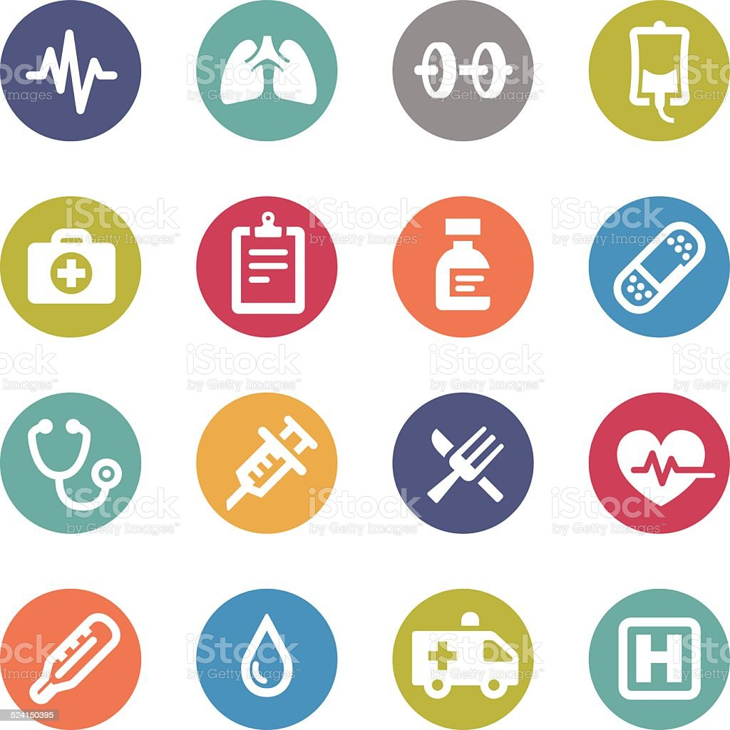 Healthcare Icons - Circle Series vector art illustration