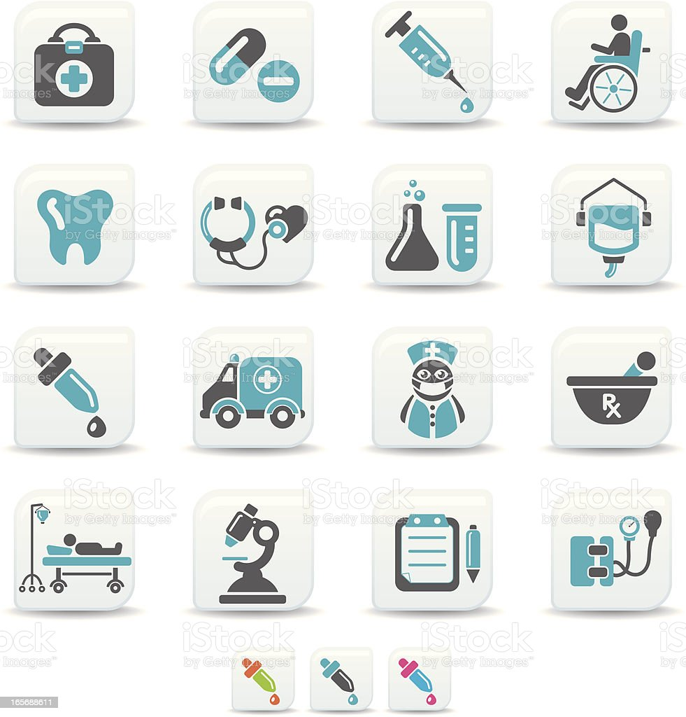 healthcare icons | simicoso collection royalty-free stock vector art