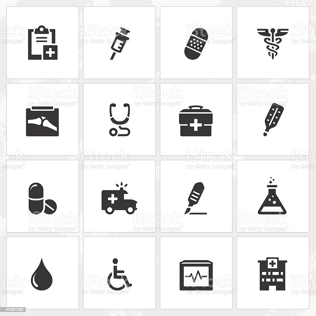Healthcare Icons royalty-free stock vector art