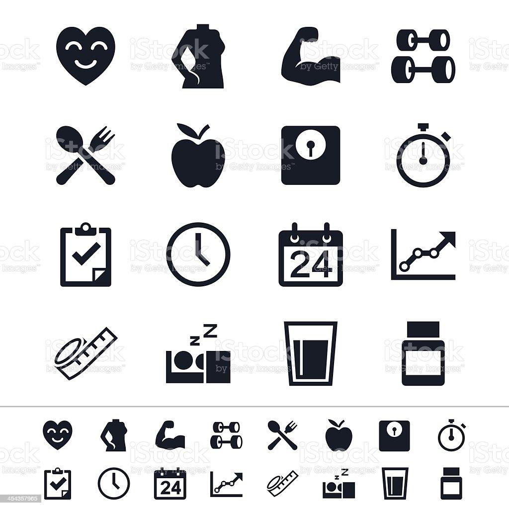 Healthcare icons vector art illustration