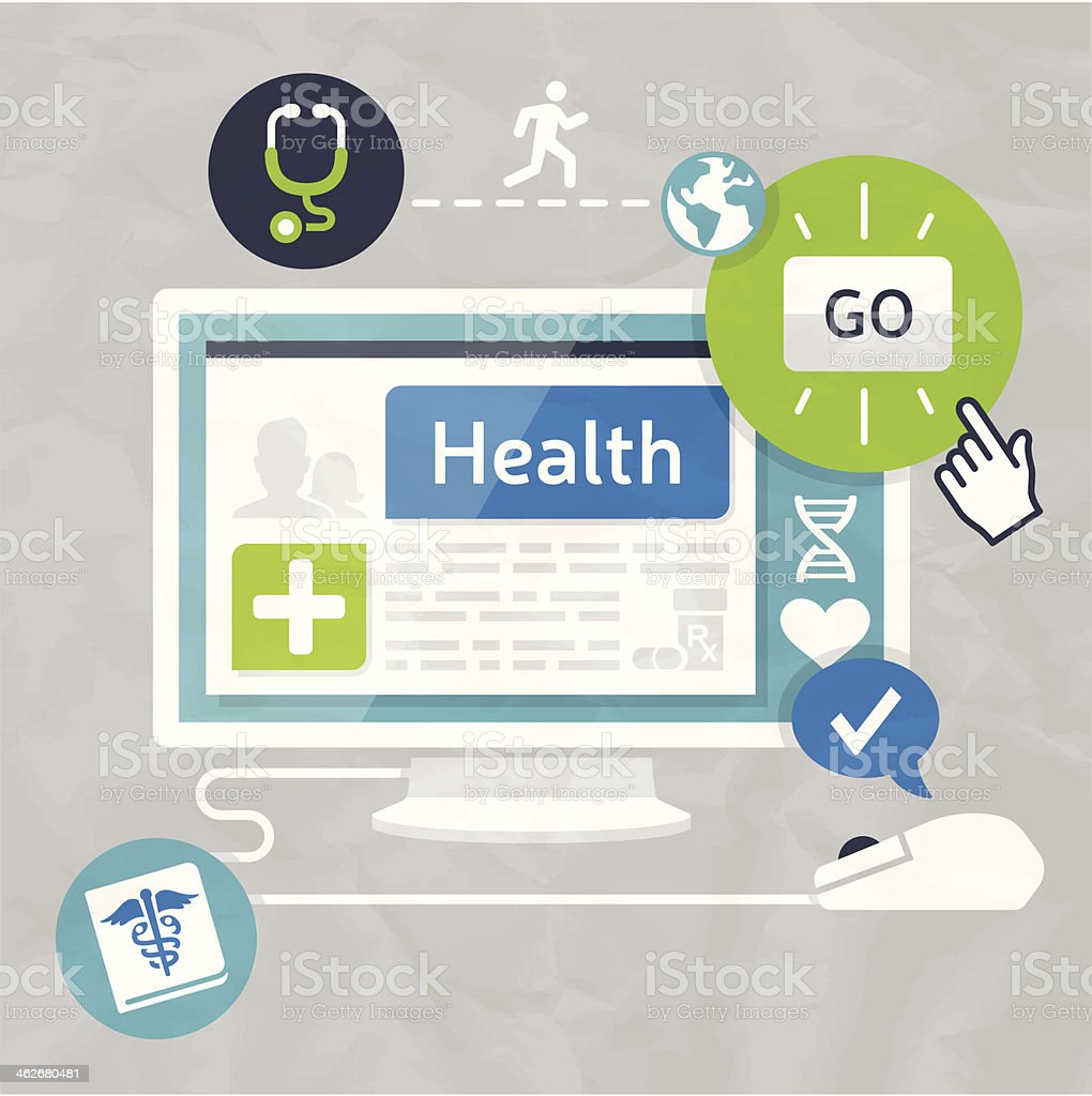 Healthcare Information vector art illustration