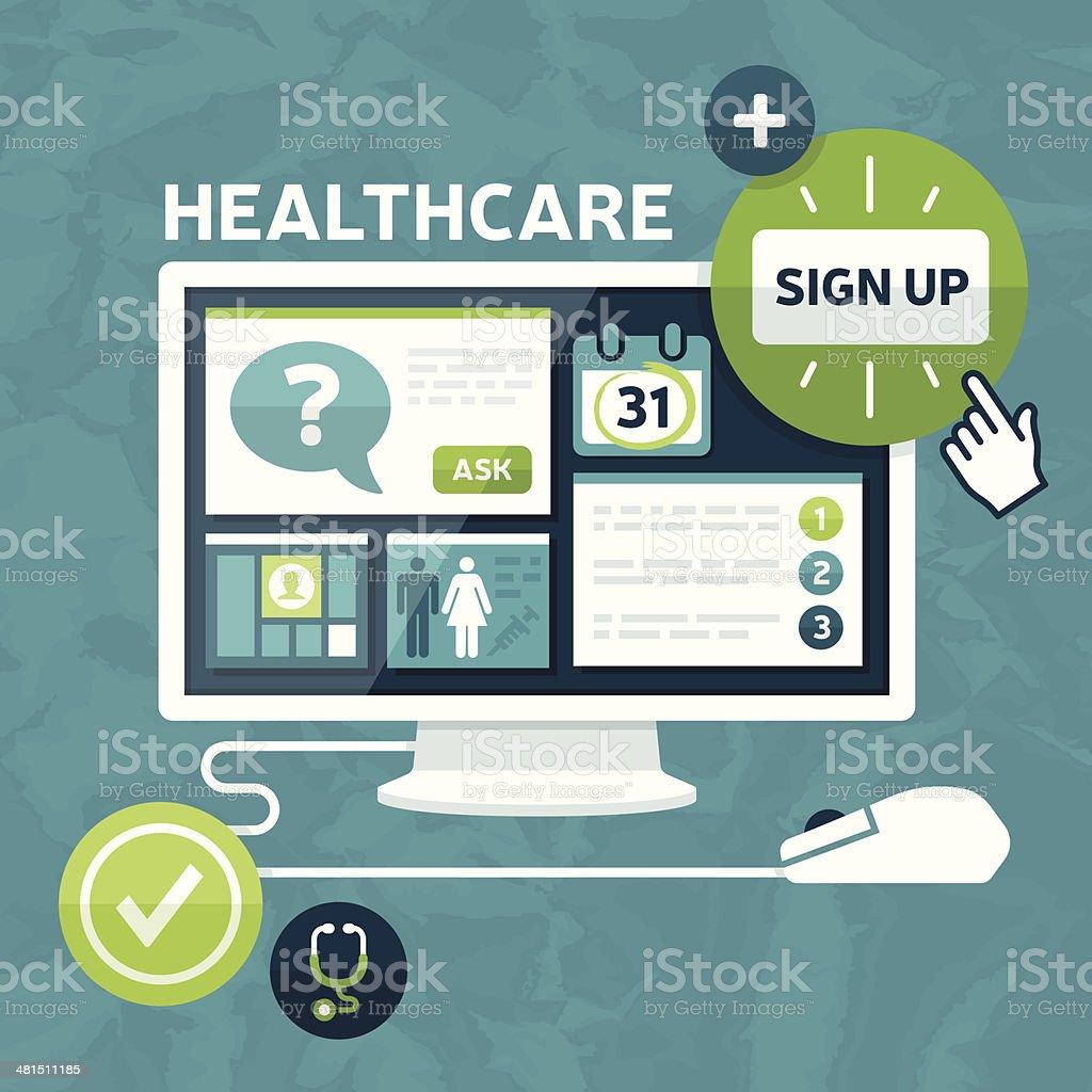 Healthcare Marketplace vector art illustration