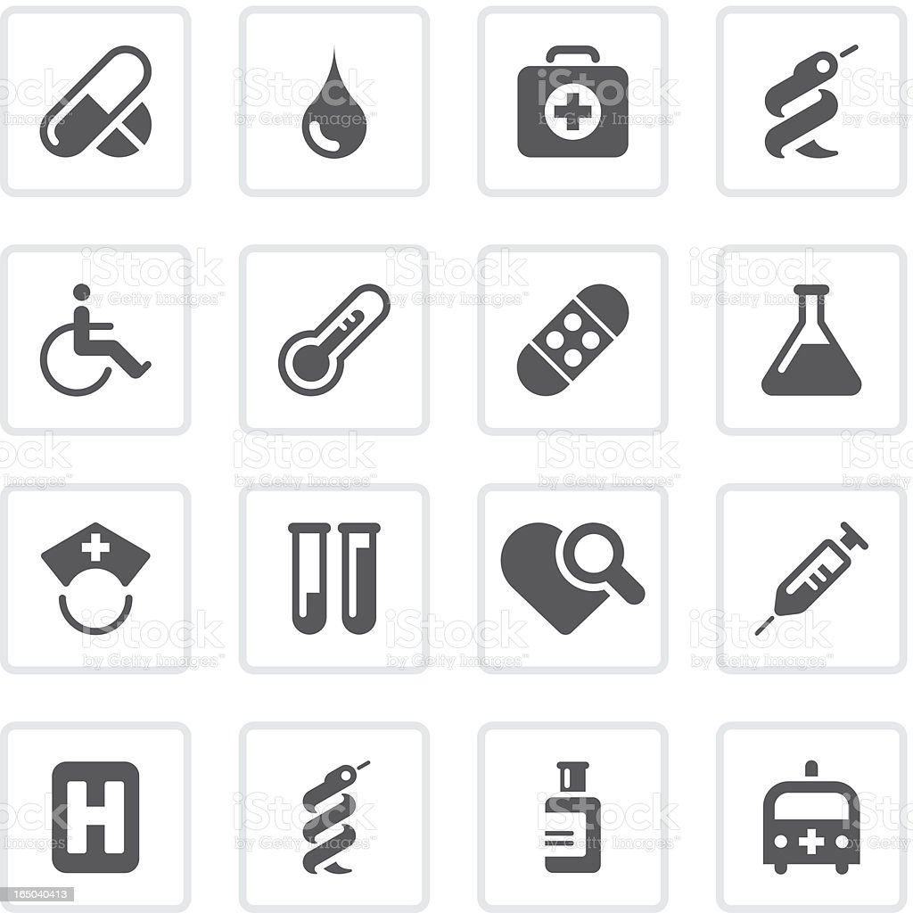 Healthcare & medical icons | prime series royalty-free stock vector art