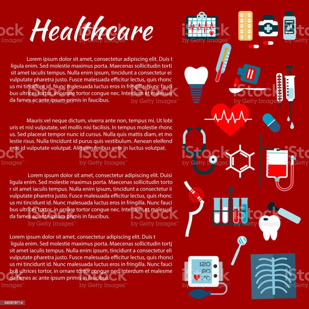 Healthcare medical infographic leaflet vector art illustration