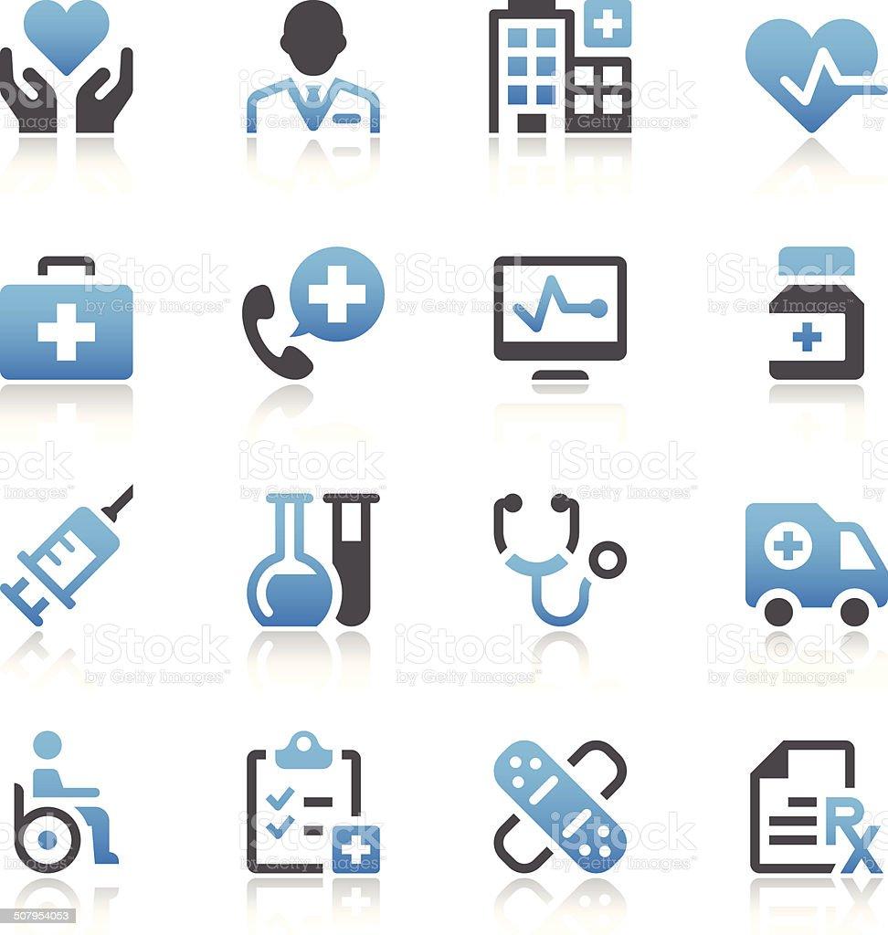 Healthcare & Medicine Icons vector art illustration