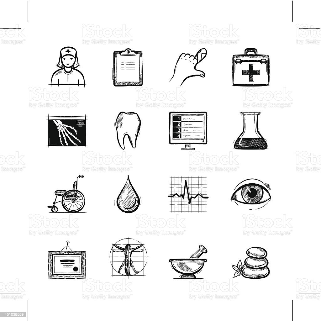 Healthcare, part 1 royalty-free stock vector art