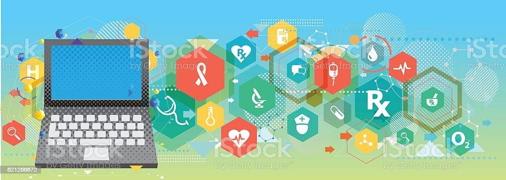 Healthcare technology vector art illustration