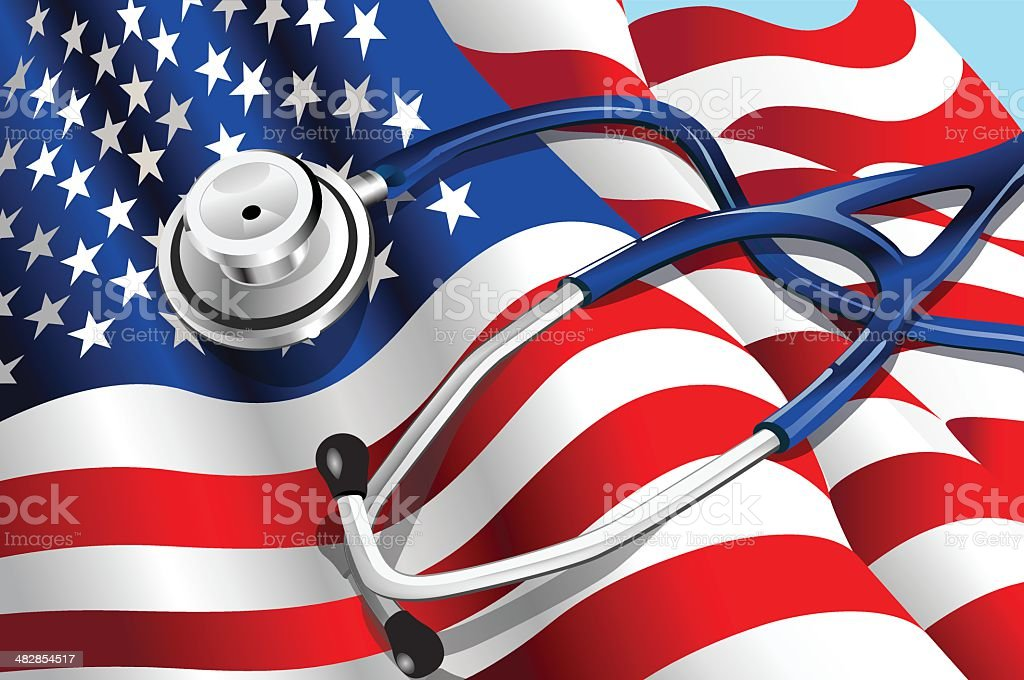 USA Healthcare vector art illustration
