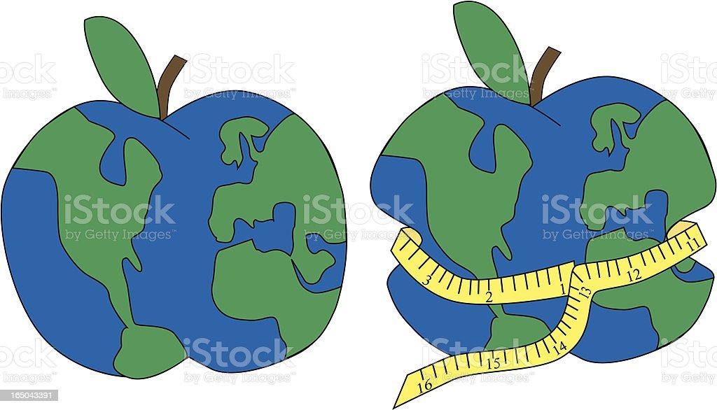Healthy Apple -  World royalty-free stock vector art