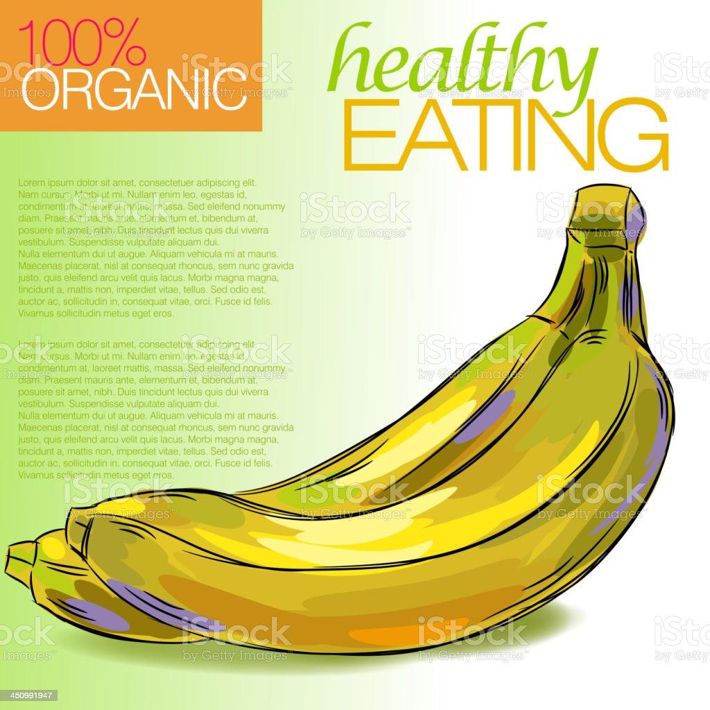 Healthy Banana royalty-free stock vector art