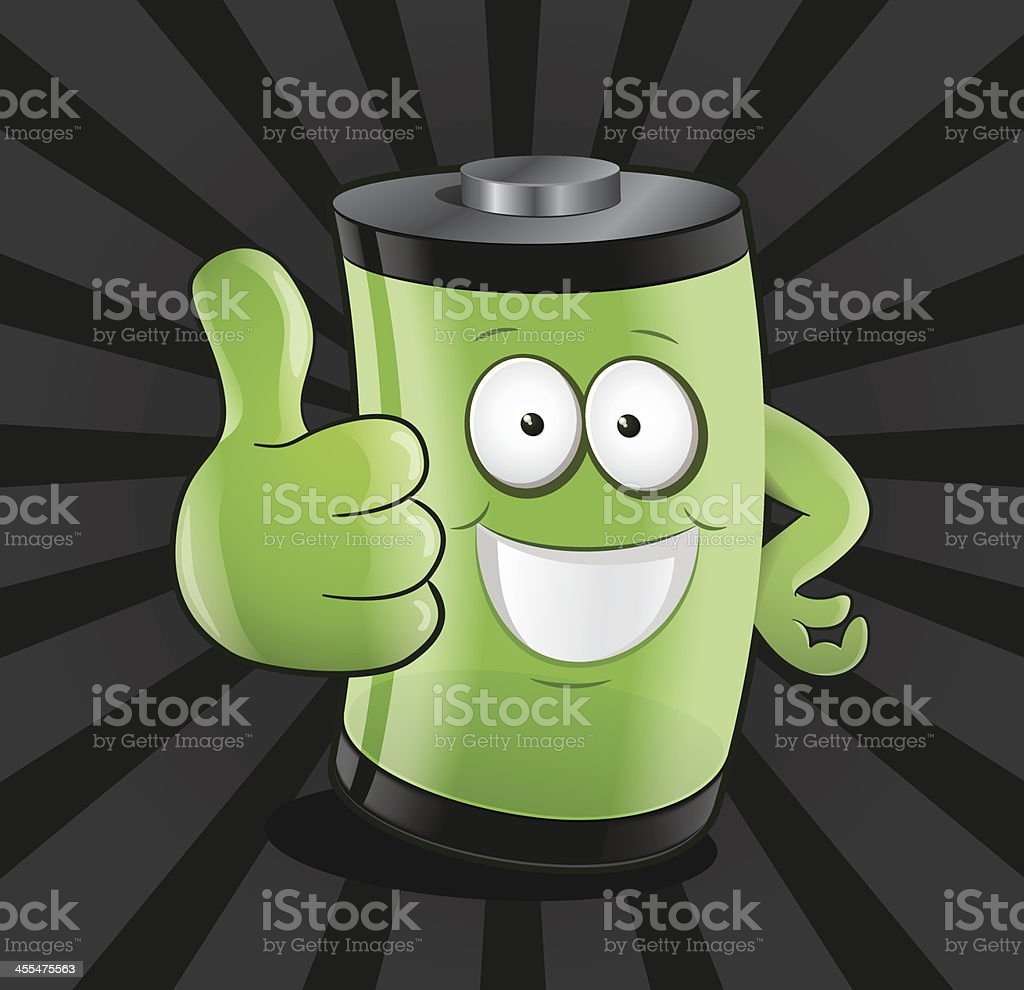 Healthy Battery royalty-free stock vector art