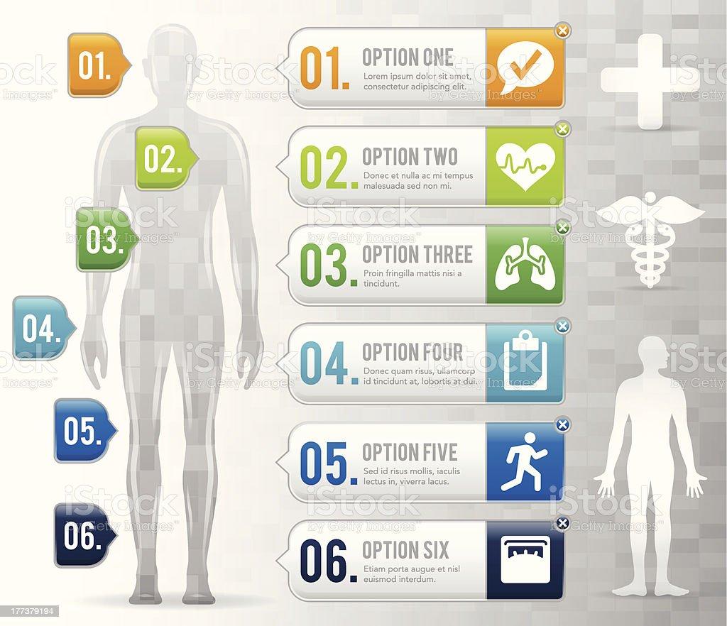 Healthy Body Options royalty-free stock vector art