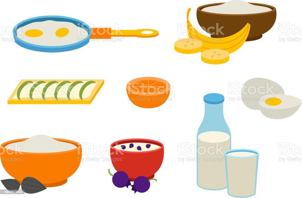 Healthy breakfast vector vector art illustration