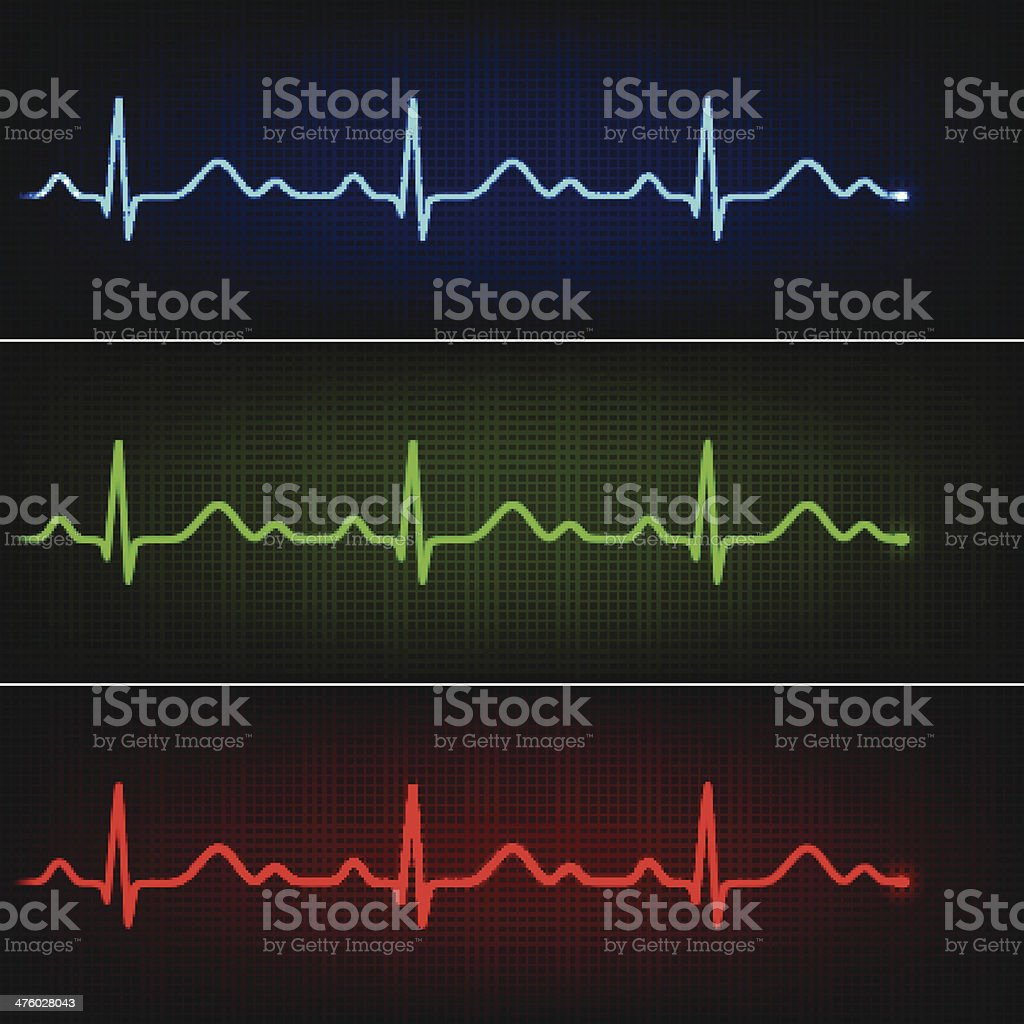 Healthy cardiogram vector art illustration