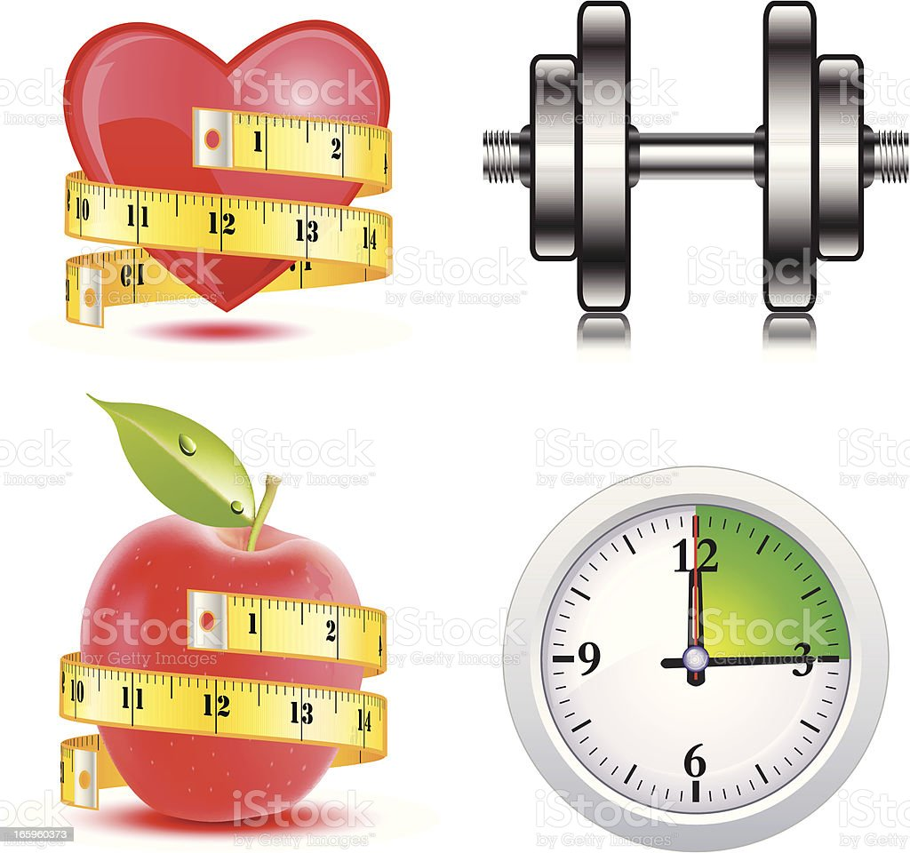 Healthy choices illustration - VECTOR royalty-free stock vector art