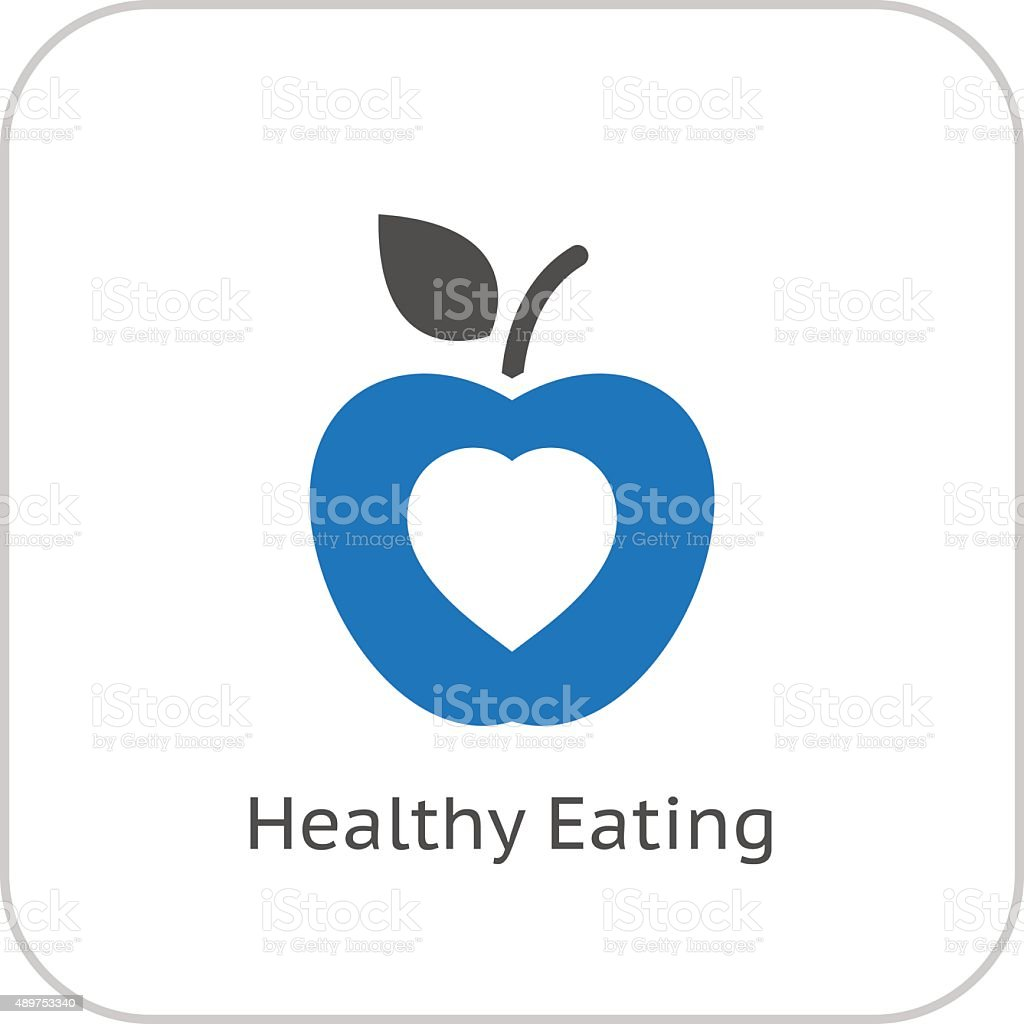Healthy Eating Icon. Flat Design. vector art illustration