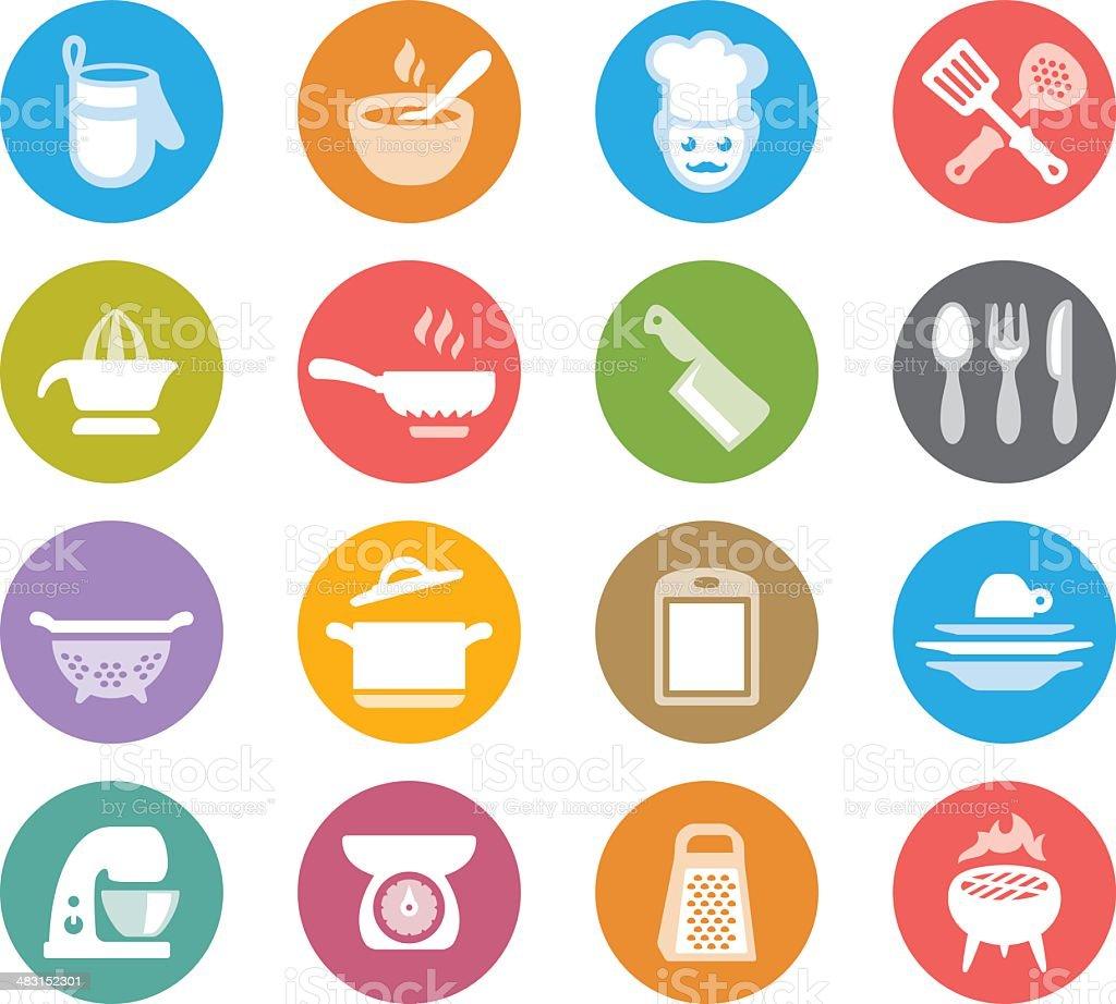 Healthy eating / Wheelico icons vector art illustration