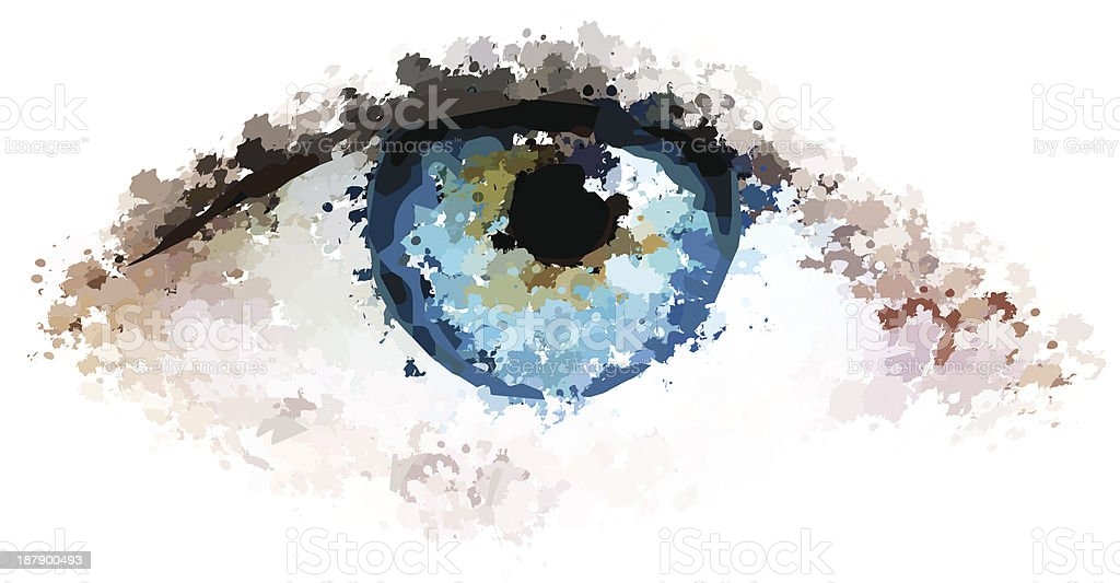 healthy eyes clean looking vector illustration vector art illustration