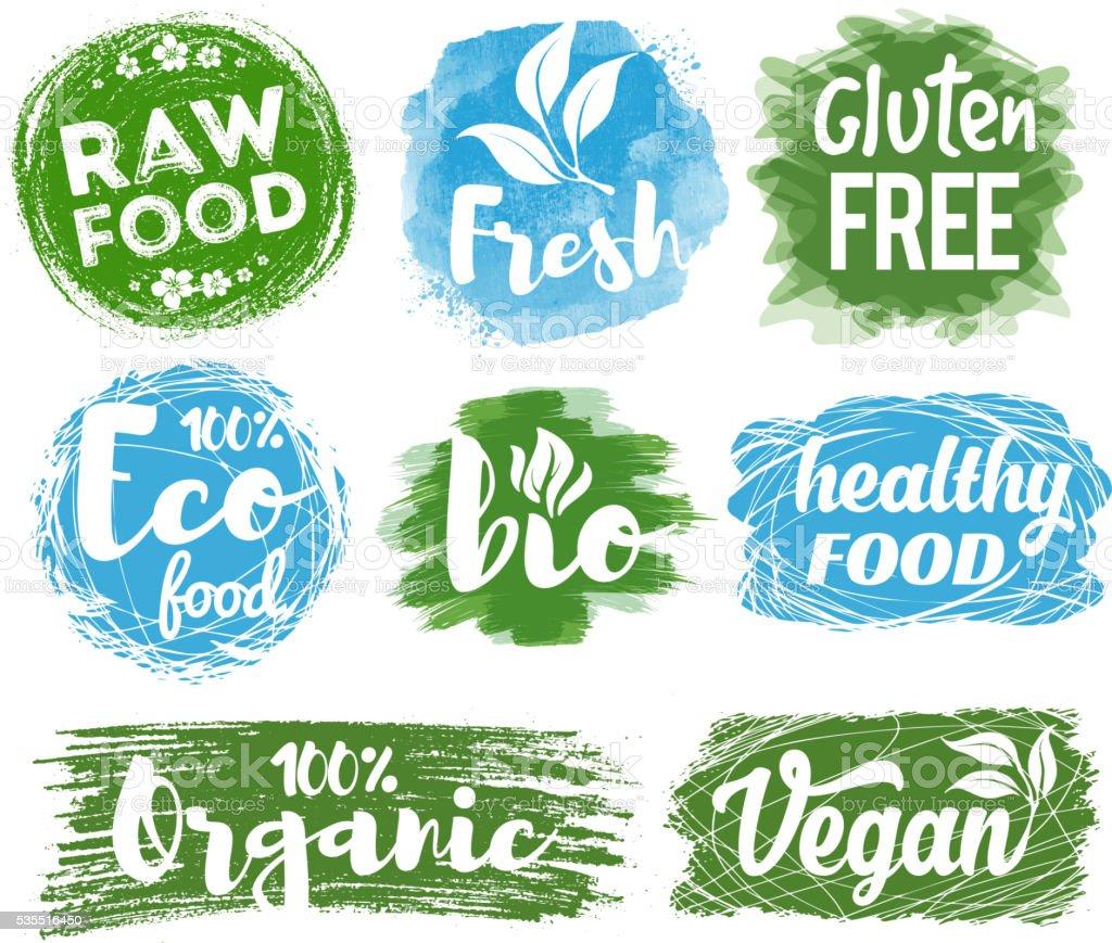Healthy Food Logo vector art illustration