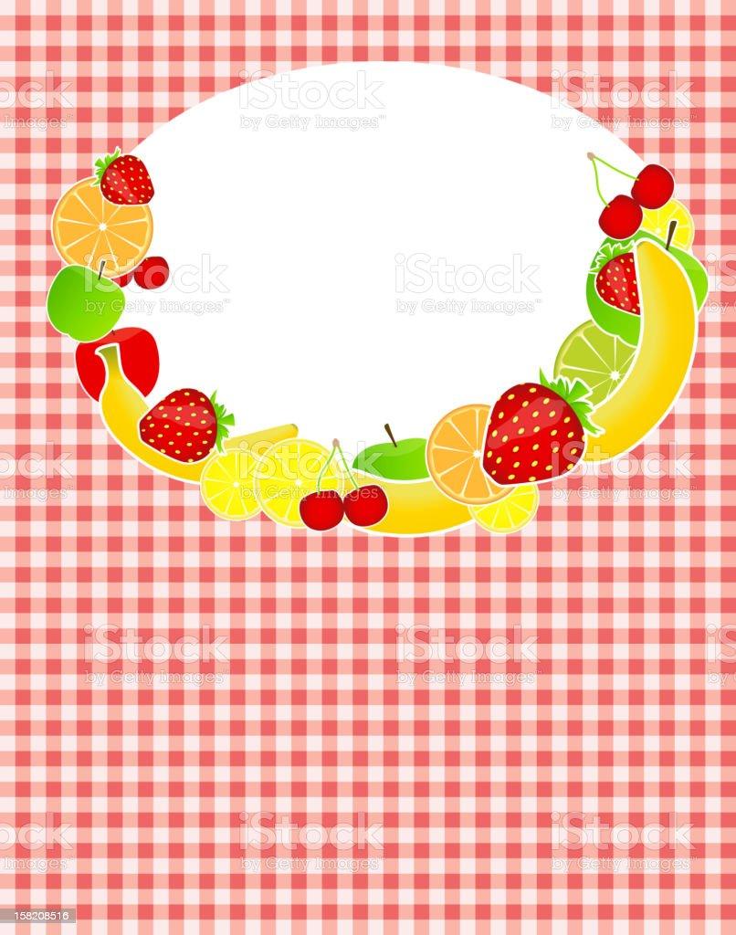 Healthy food menu template vector illustration royalty-free stock vector art