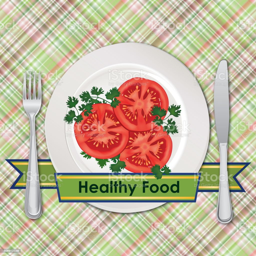 Healthy food sign royalty-free stock vector art