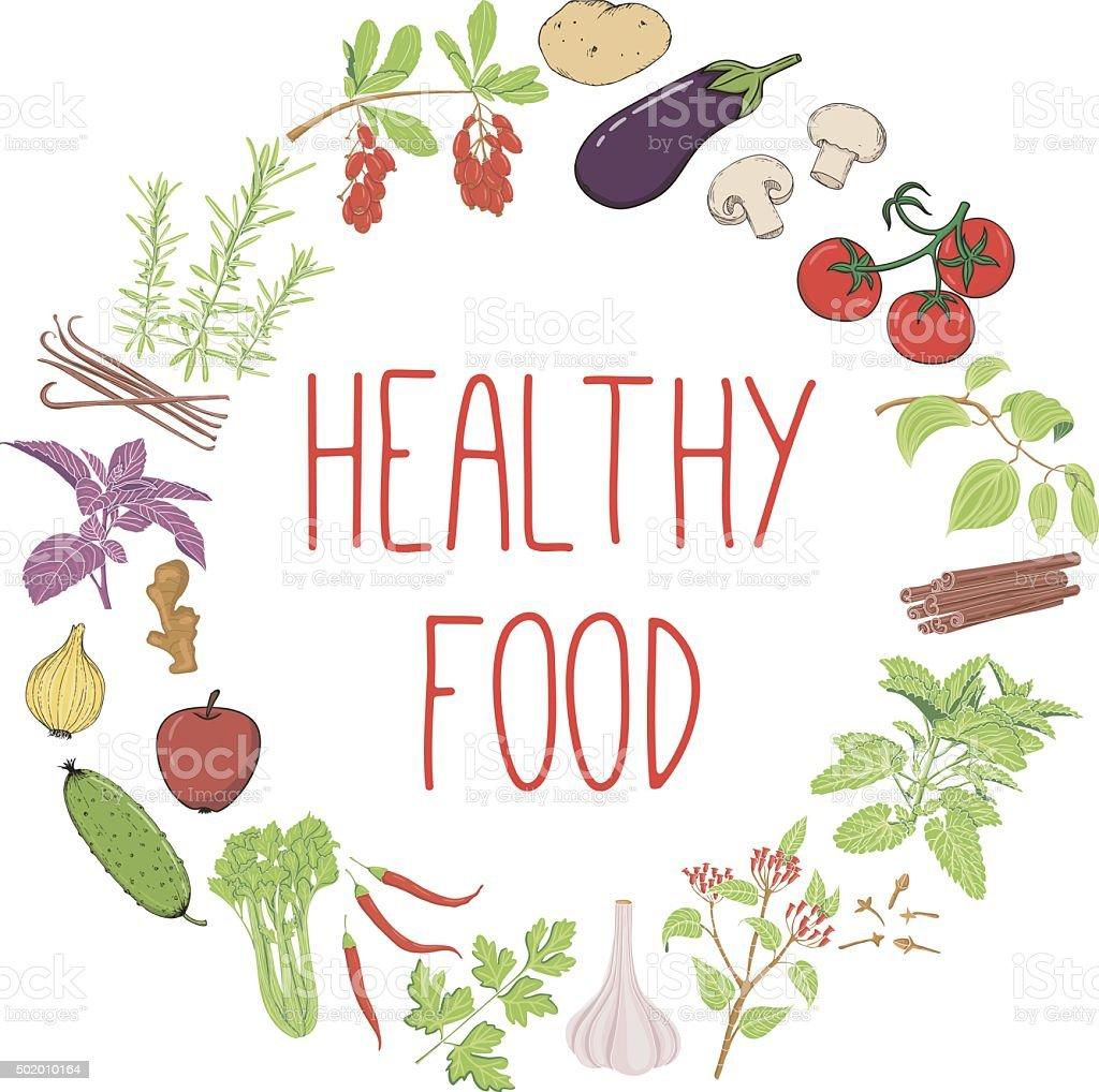 Healthy food vector concept. vector art illustration