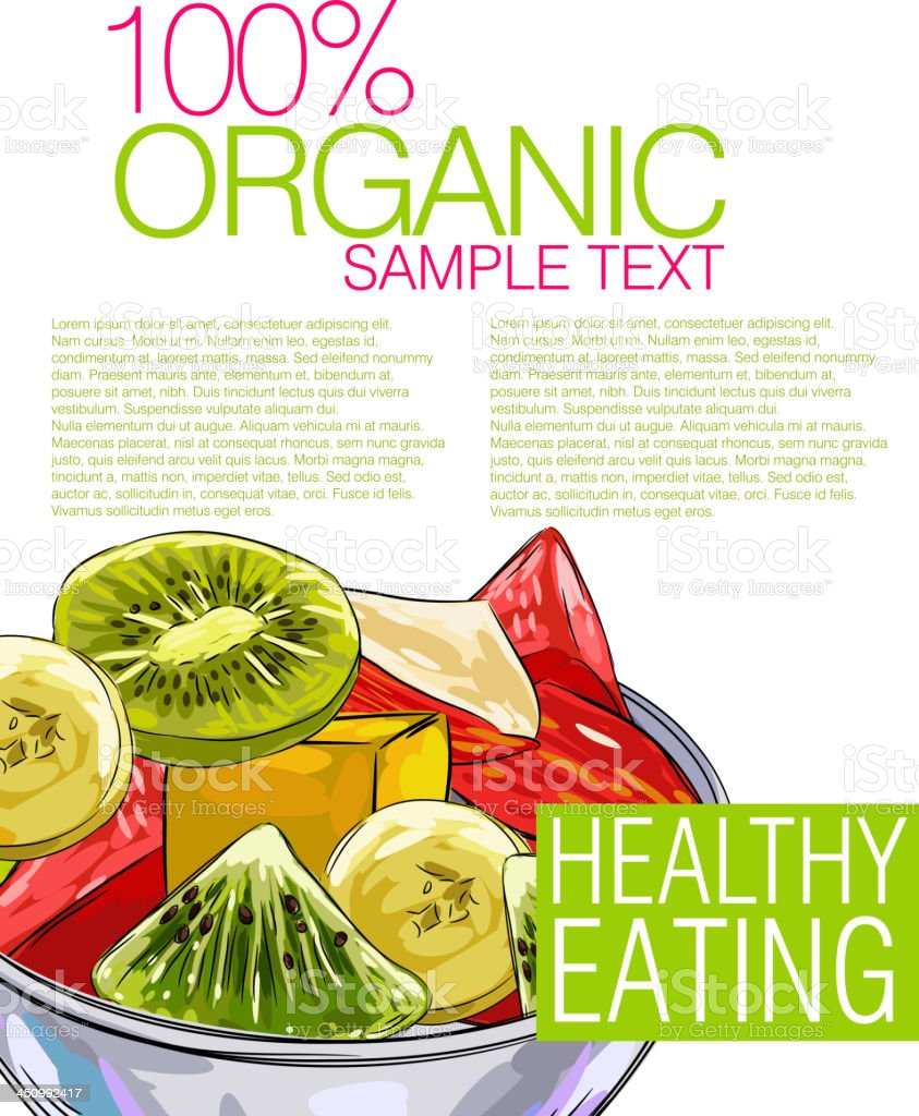 Healthy Food royalty-free stock vector art