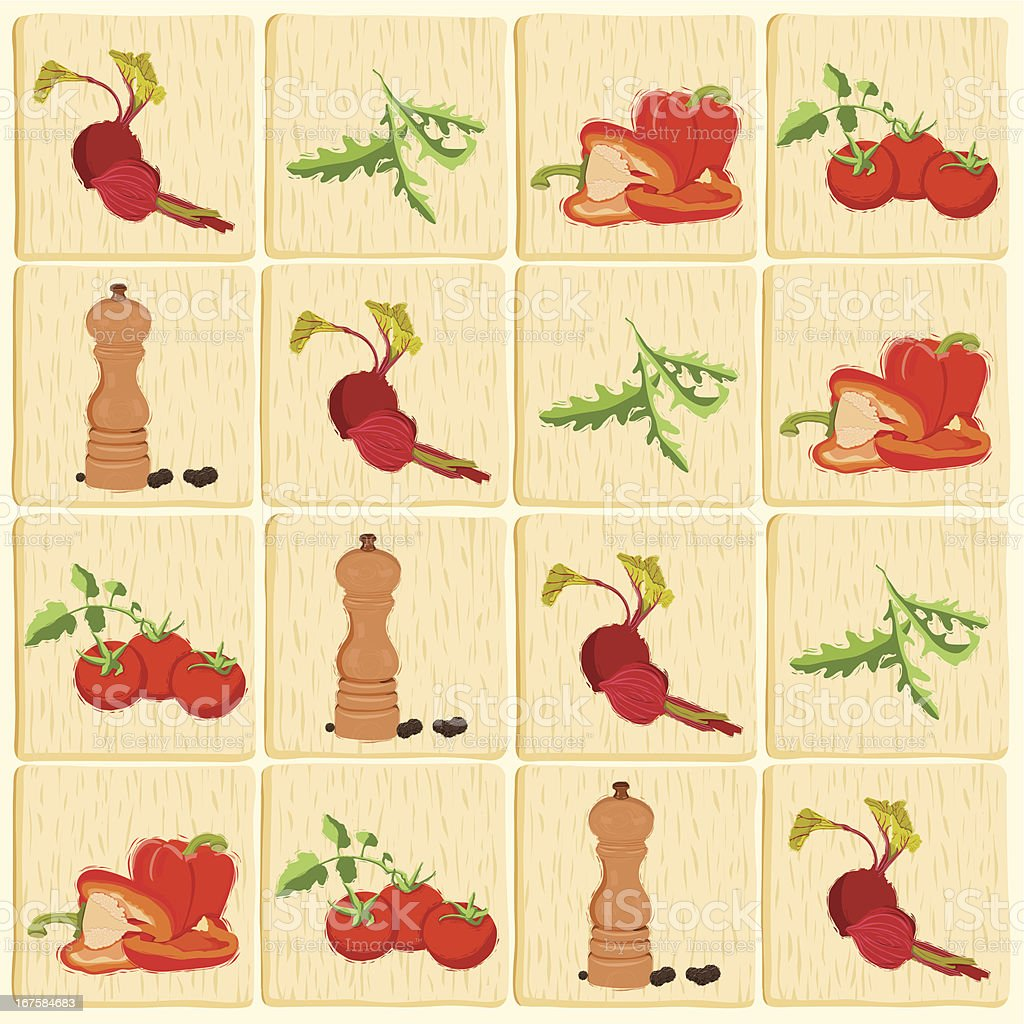 healthy fresh vegetables pattern background royalty-free stock vector art