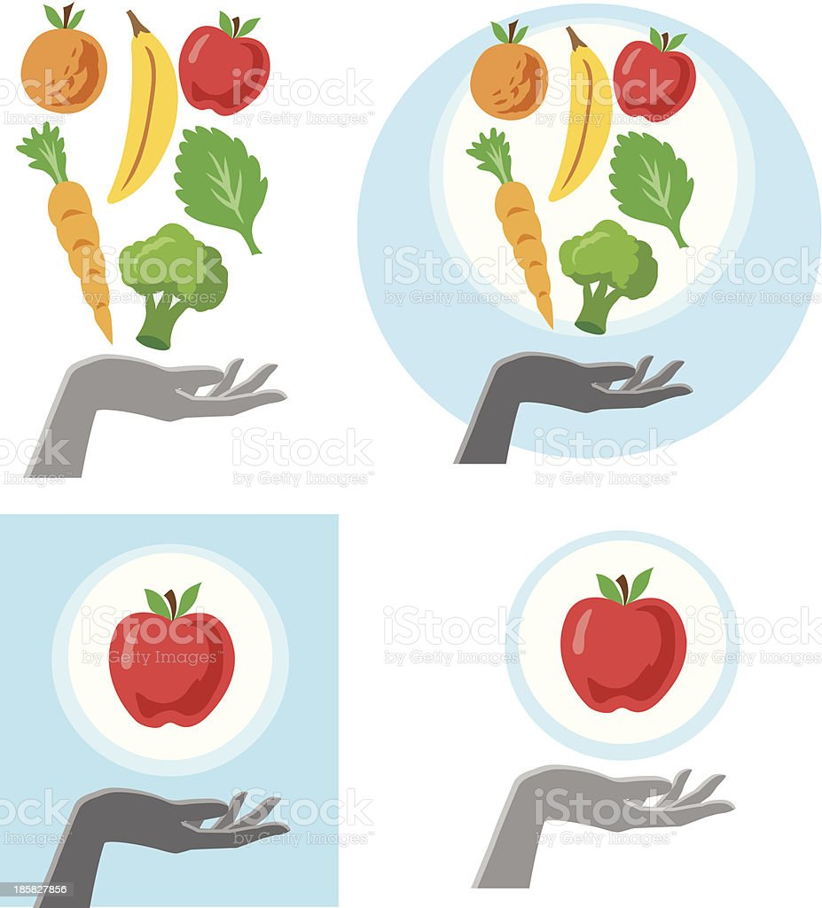 Healthy Hand royalty-free stock vector art