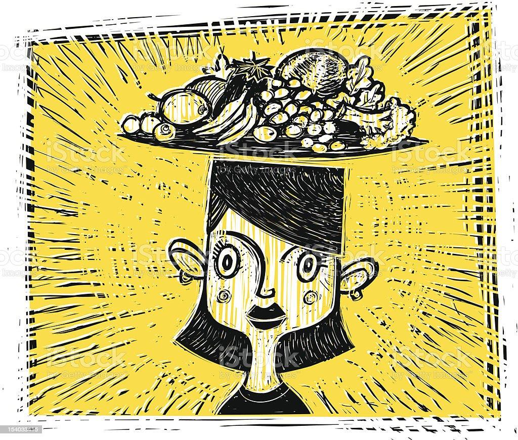 Healthy Head vector art illustration