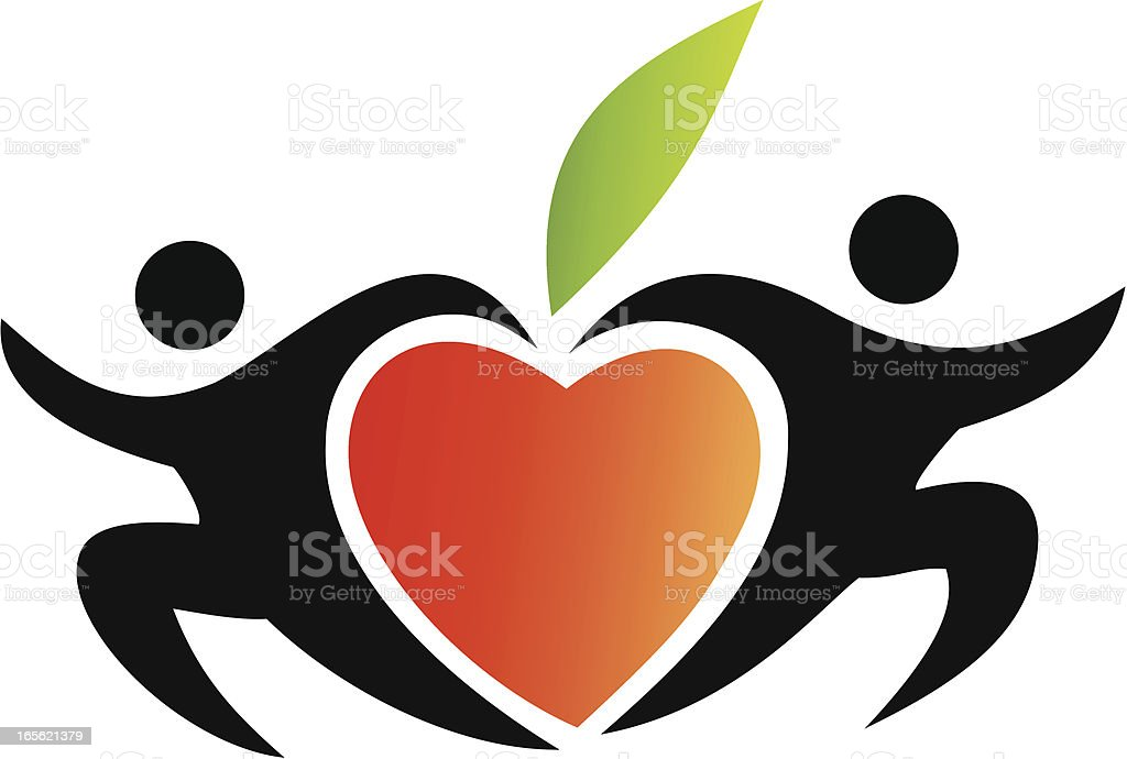 A healthy heart makes a healthy life royalty-free stock vector art