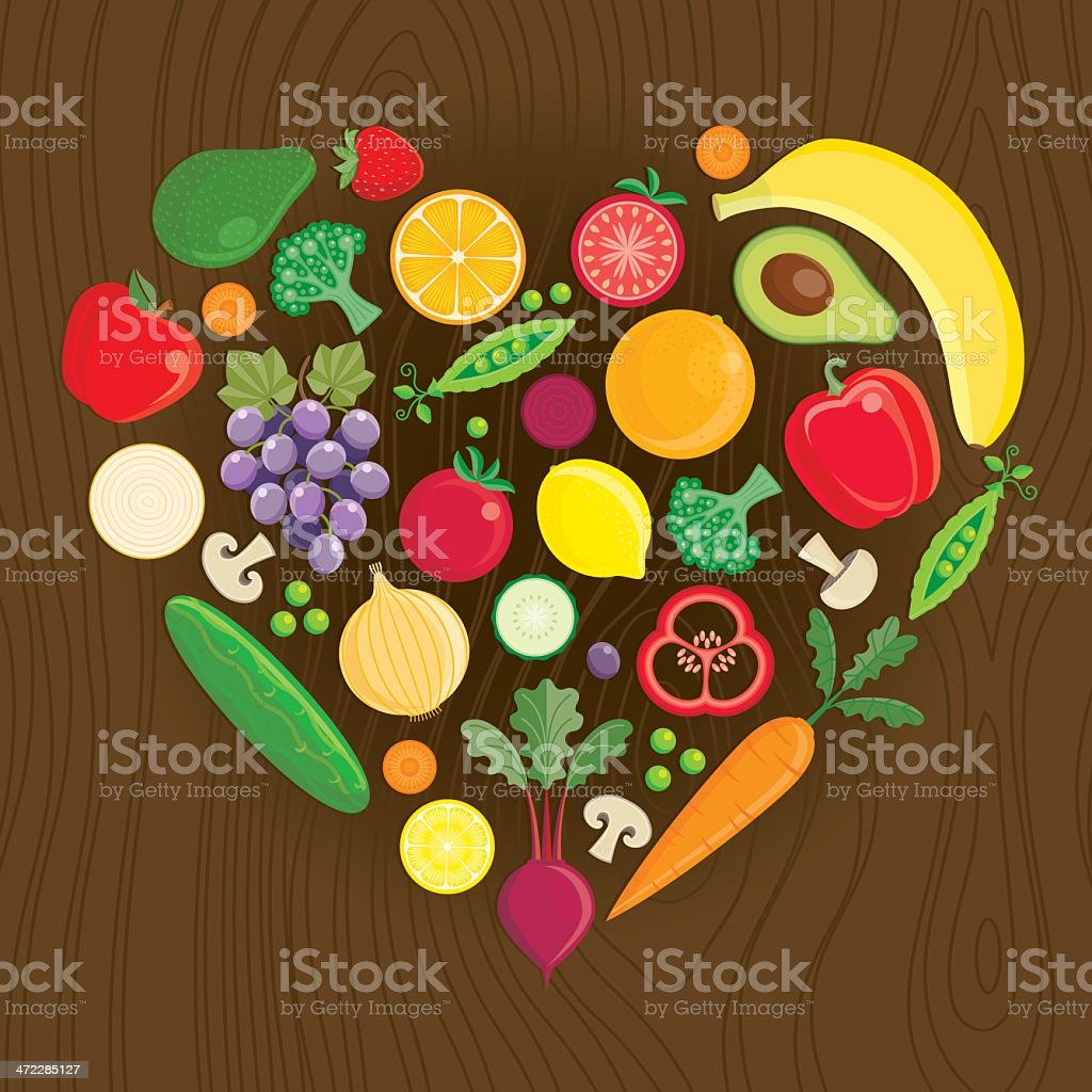 Healthy Heart vector art illustration