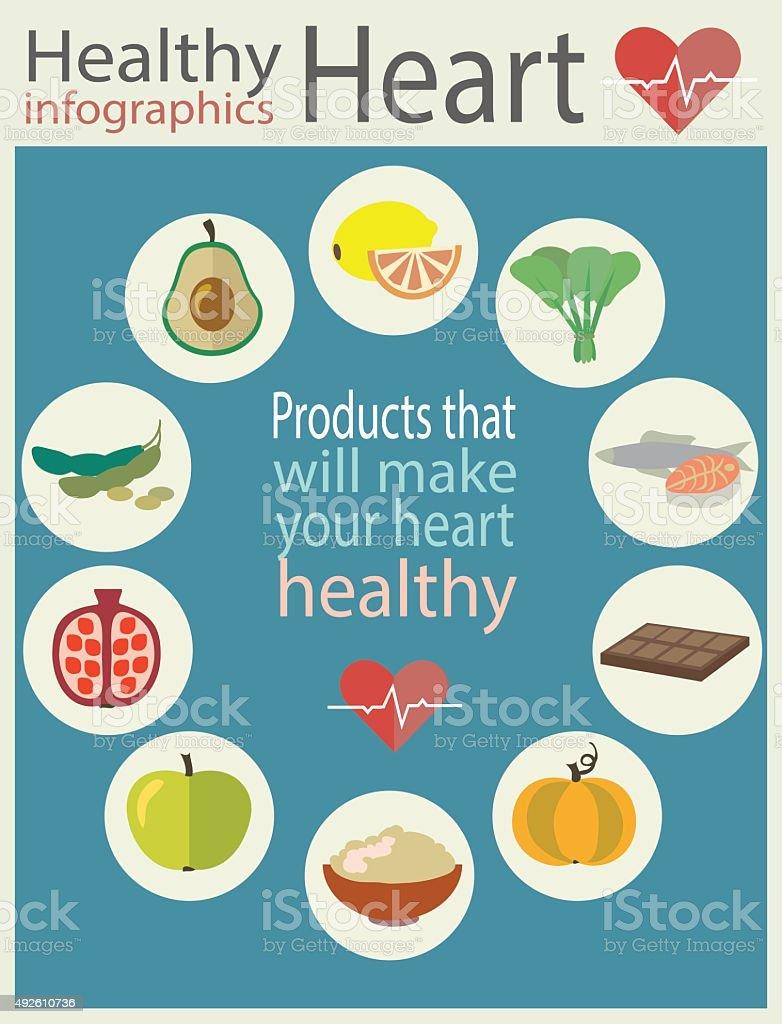 Healthy heart vector art illustration