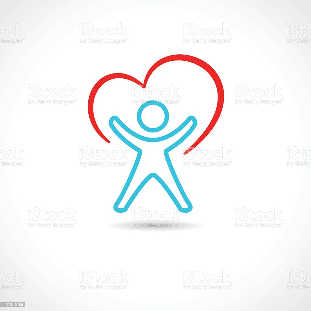 Healthy human icon vector art illustration