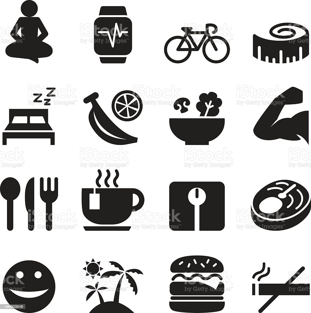 Healthy icons set Vector illustration vector art illustration