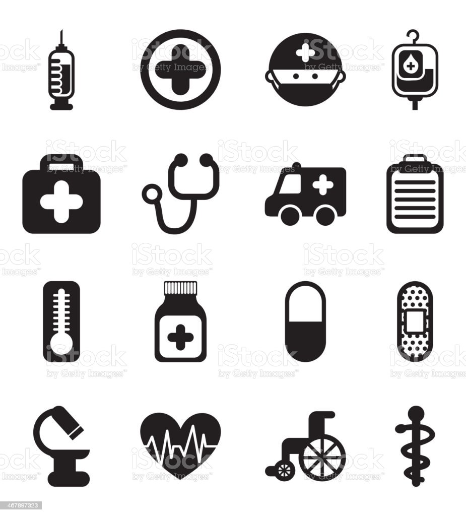 Healthy Icons vector art illustration