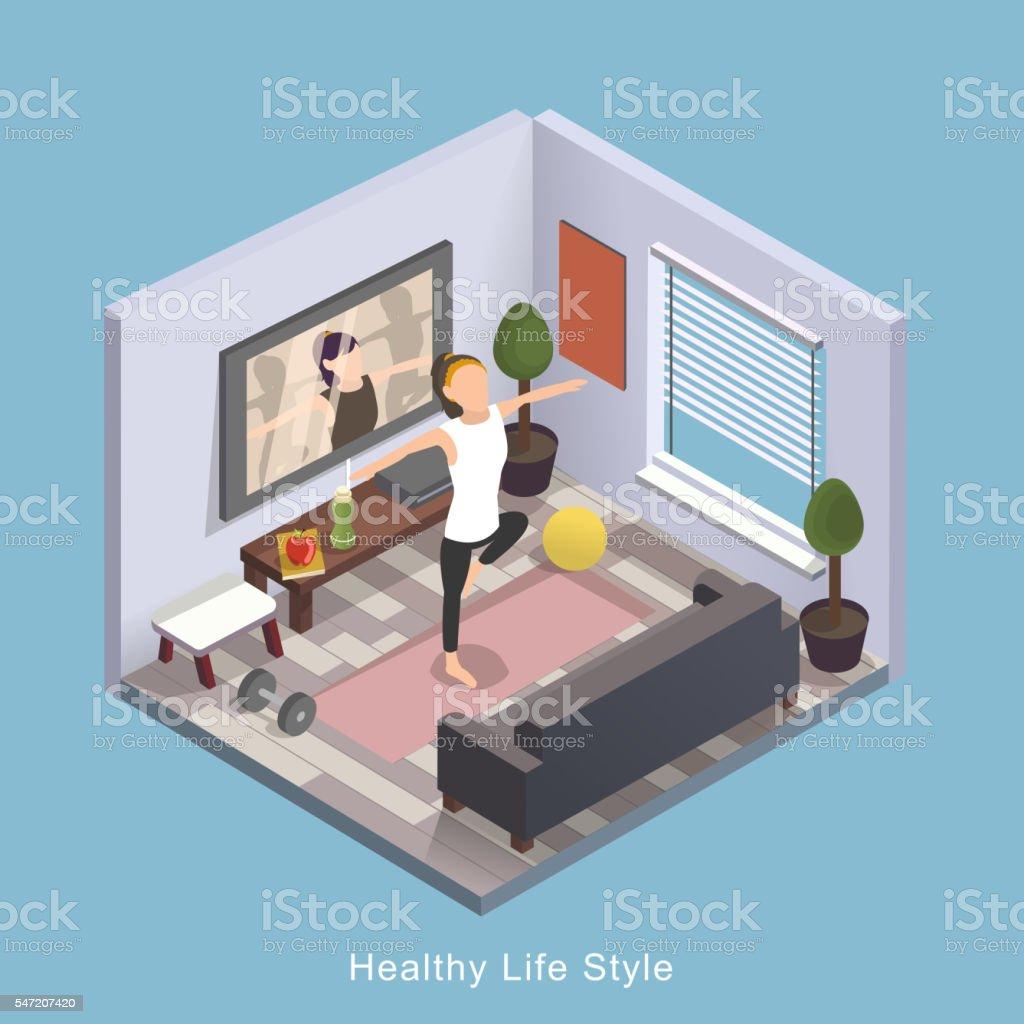 Healthy life style vector art illustration