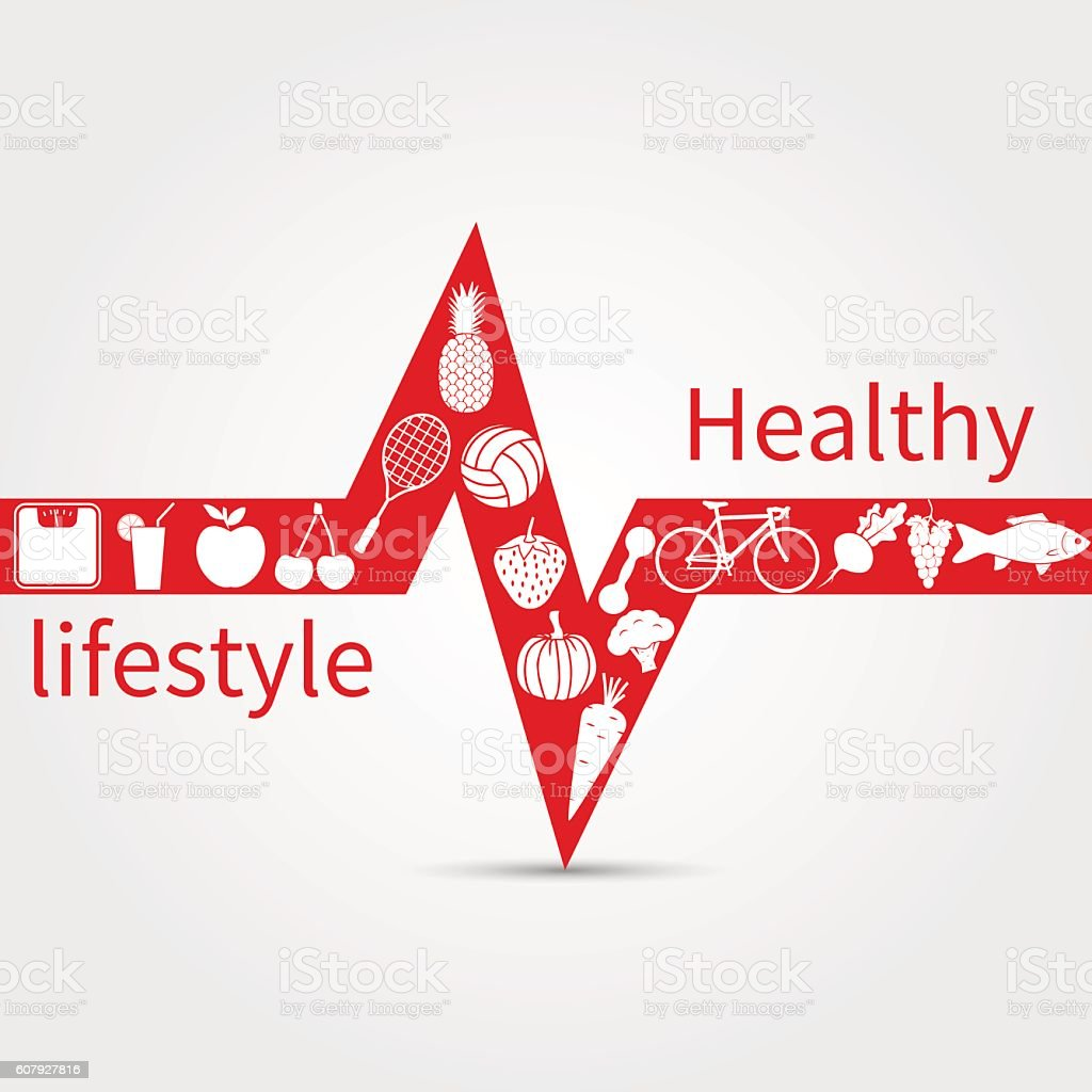 Healthy lifestyle concept vector art illustration