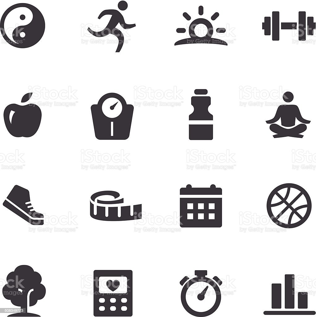 Healthy Lifestyle Icons - Acme Series vector art illustration