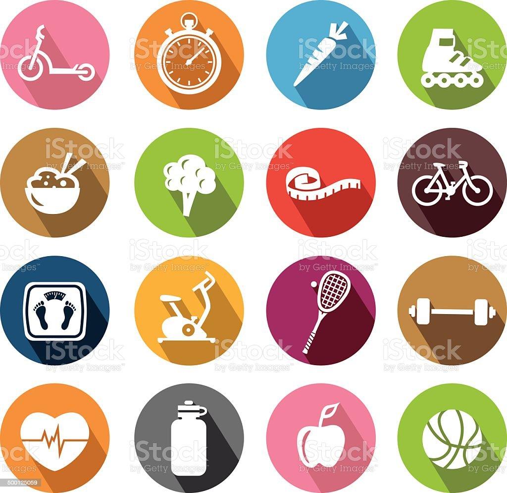 Healthy Lifestyle Icons - Flatdesign vector art illustration