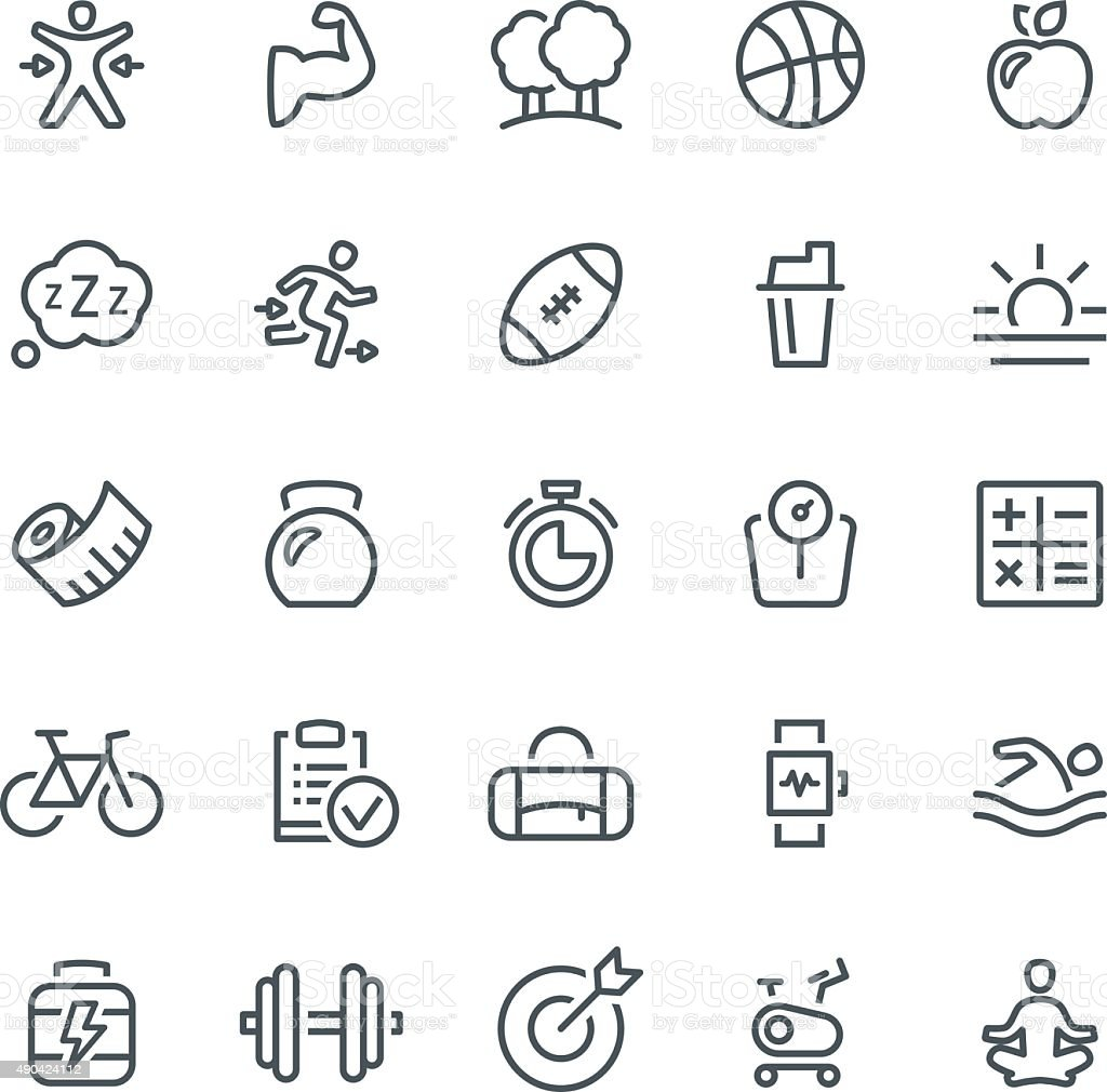 Healthy Lifestyle Icons vector art illustration